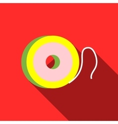 Coil fishing line icon flat style vector image