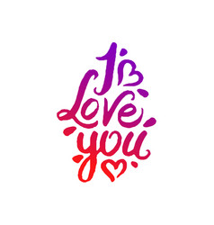 concept of i love you vector image