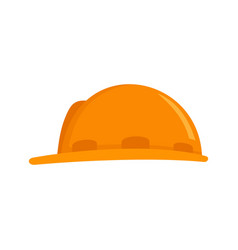 Construction protect helmet icon flat style vector