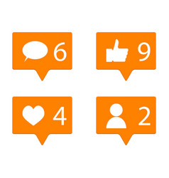 Counter in social networks vector