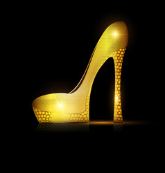 dark and golden yellow shoe vector image