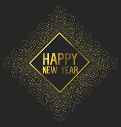Emblem style to new year celebration vector