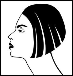 female profile vector image
