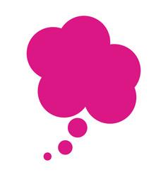 Fushia cloud dialog box design vector