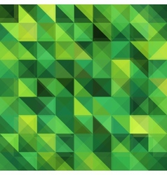 Green triangular grid pattern vector image