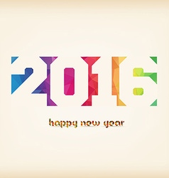 Happy new 2016 year Colorful Triangles polygons vector