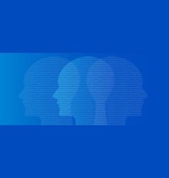 head binary number symbol artificial vector image