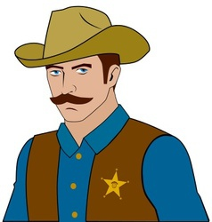lawman vector image