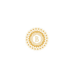 letter b initial logo for wedding boutique luxury vector image