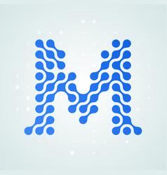 letter m logo halftone icon vector image