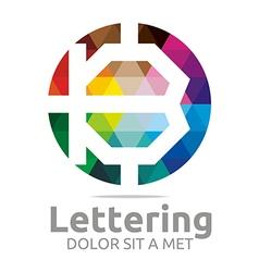 lettering b rainbow alphabet icon vector image