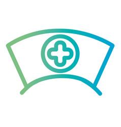 Line nurse hat tool design vector