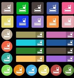 Lunch box icon sign Set from twenty seven vector