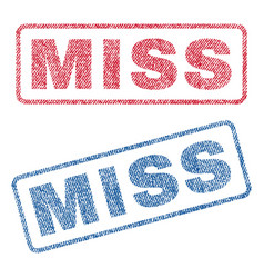 miss textile stamps vector image