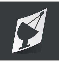 Monochrome satellite dish sticker vector image