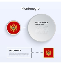 Montenegro Country Set of Banners vector image