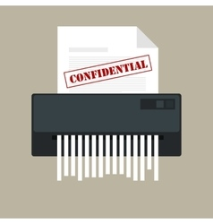 Paper shredder confidential icon and private vector