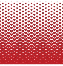 Pattern of decorative hearts vector