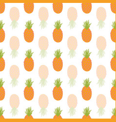 pineapple repeating background abstract vector image