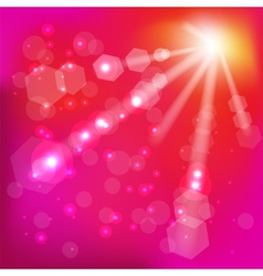 Pink Sun Background vector image