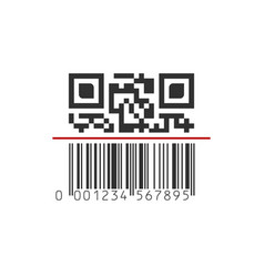 Qr and barcode mixwd scanning scan me concept vector