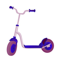 Roller scooter for children balance bike eco city vector