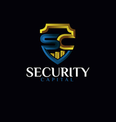 S c security protection logo designs simple modern vector