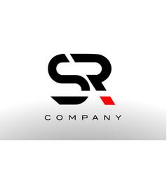 S r logo sr letter design vector