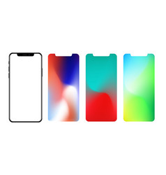 screen wallpaper gradient mesh masked into phone vector image