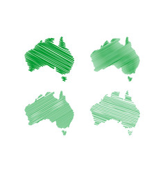 scribble australia map vector image