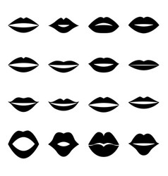 Set lips vector