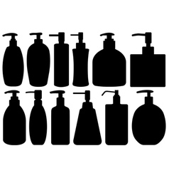 Set of different liquid soaps vector image