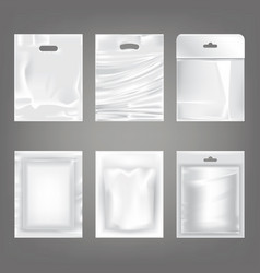 set of of white plastic empty vector image