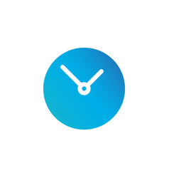 simple clock circle icon isolated on white vector image