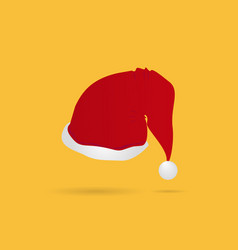 simple red christmas hat vector image