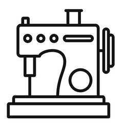 Small sew machine icon outline style vector