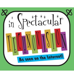 Spectacular Technovision Logo vector image