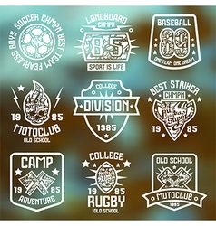 Sport badges Graphic design for t shirt vector