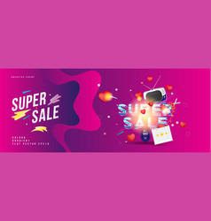 super sale of 50 off the concept for big vector image