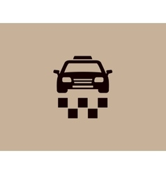 Taxi car background icon vector