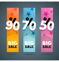 Vertical banner design template with discount vector image vector image