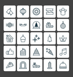 Year icons set collection of cake piece blank vector