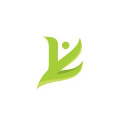 Yk people logo symbol vector