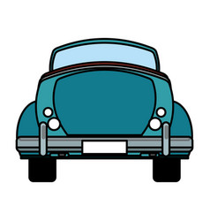 classic car travel image vector image