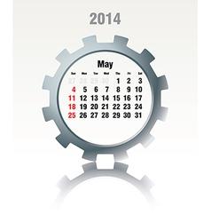 May 2014 - calendar vector image vector image