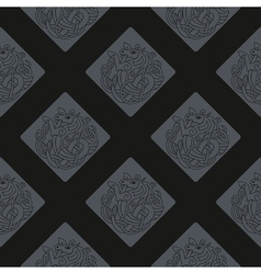 Seamless background with Celtic art vector image