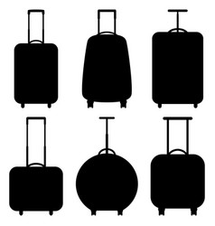 set of suitcase icons vector image