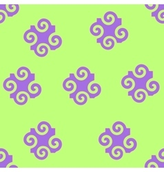 Spiral abstract seamless pattern vector image