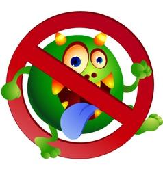 stop germ vector image vector image