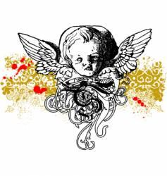 wicked cherub illustration vector image